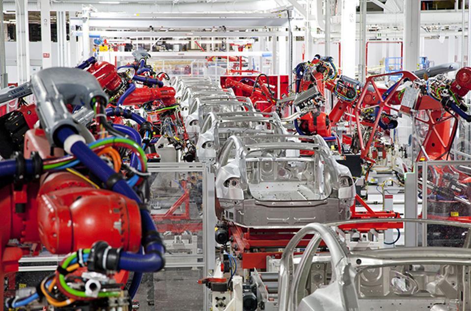 Robotics in Tesla factory.