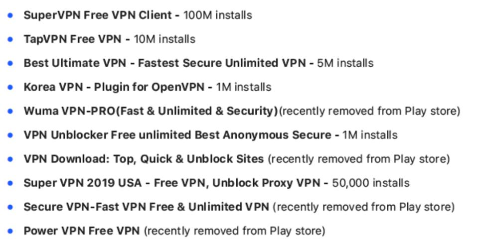 Dangerous free VPNs