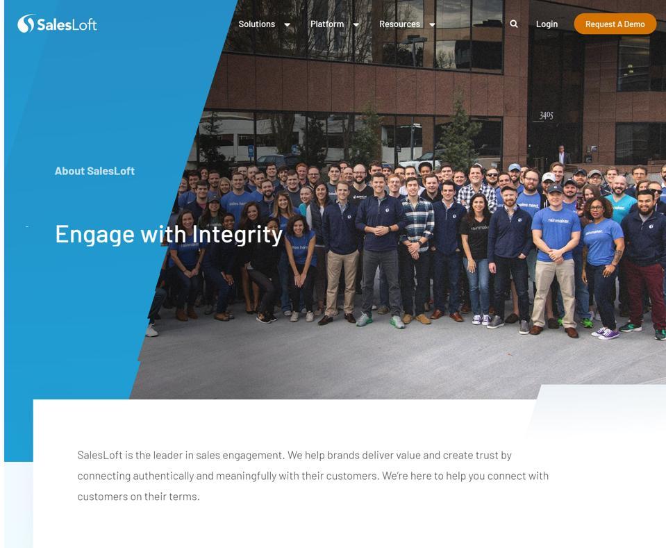 salesloft company culture values mission statement vision statement