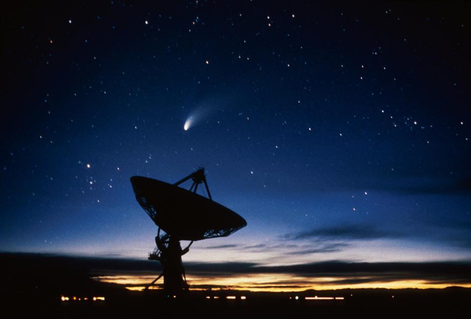 Novo México, telescópio de rádio Vla e cometa Hale-Bopp