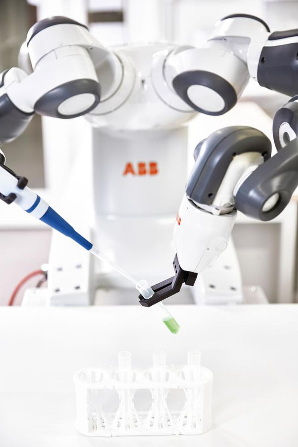 ABB's dual-armed Yumi robot has taken robot-human collaboration to new heights.