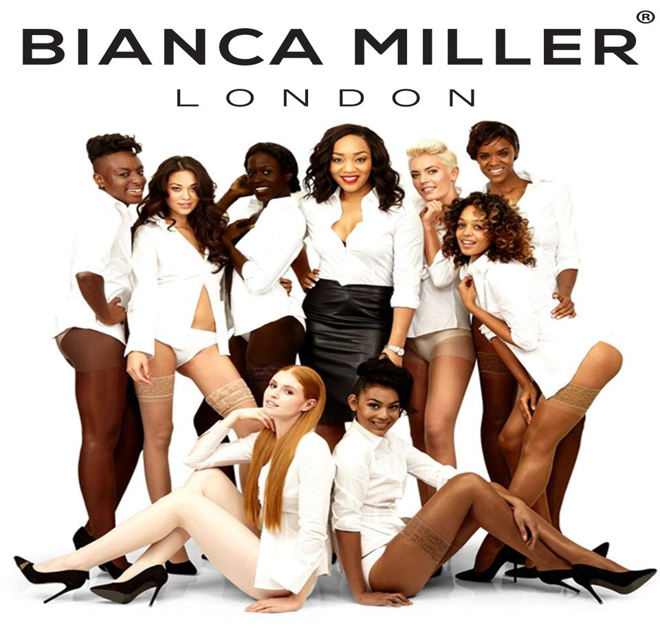 Bianca Miller London hosiery brand redefining nude by offering 8 shades to compliment all skin tones.