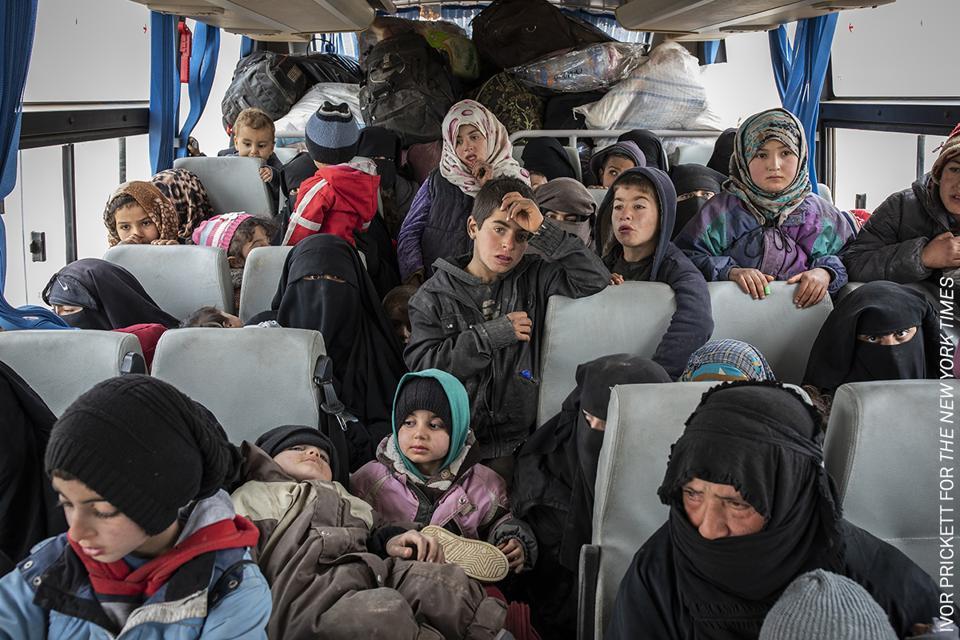 Refugee women and children in Syria
