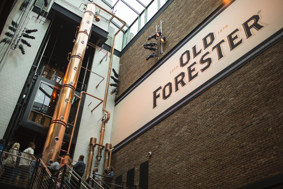 copper still at Old Forester