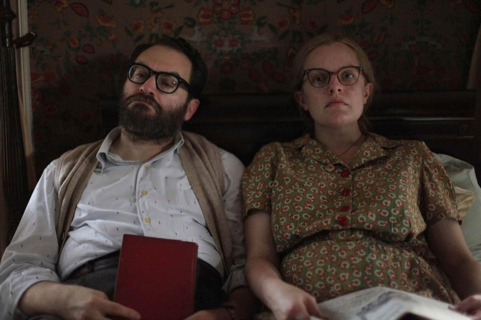 Still image from 'Shirley' movie, featuring Michael Stuhlbarg and Elisabeth Moss