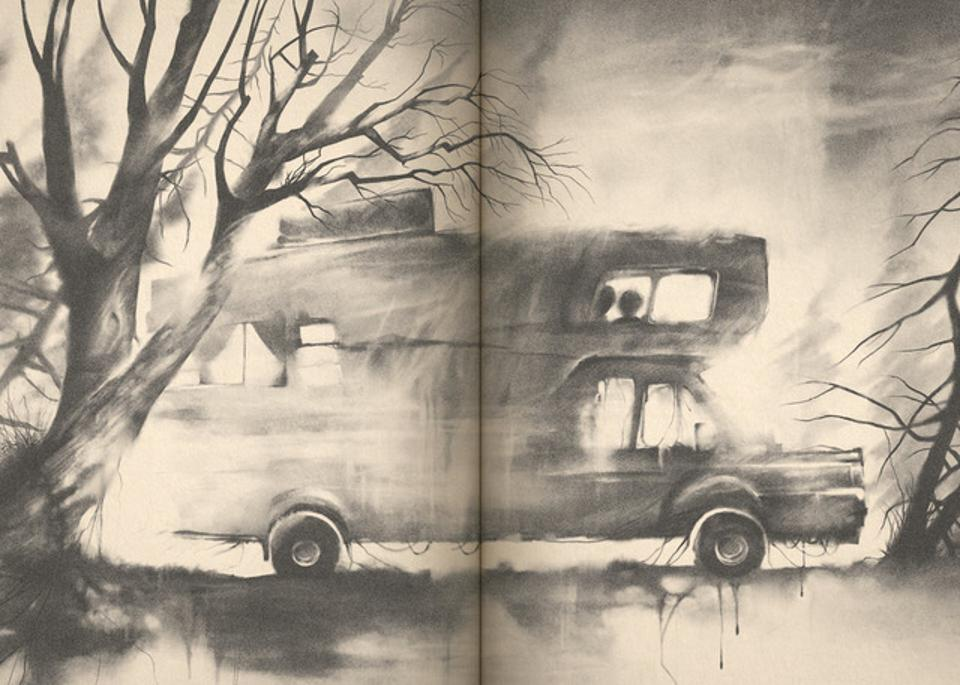 An illustration from the new 'Scary Stories' tribute book.