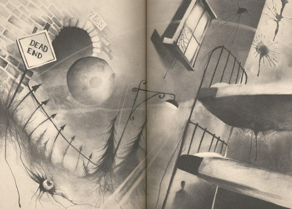 One of the illustrations from the 'Scary Stories' tribute book.