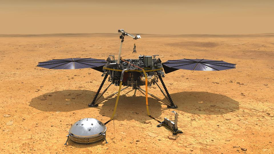 NASA's InSight Lander Detects Ancient Magnetism On Mars' Surface