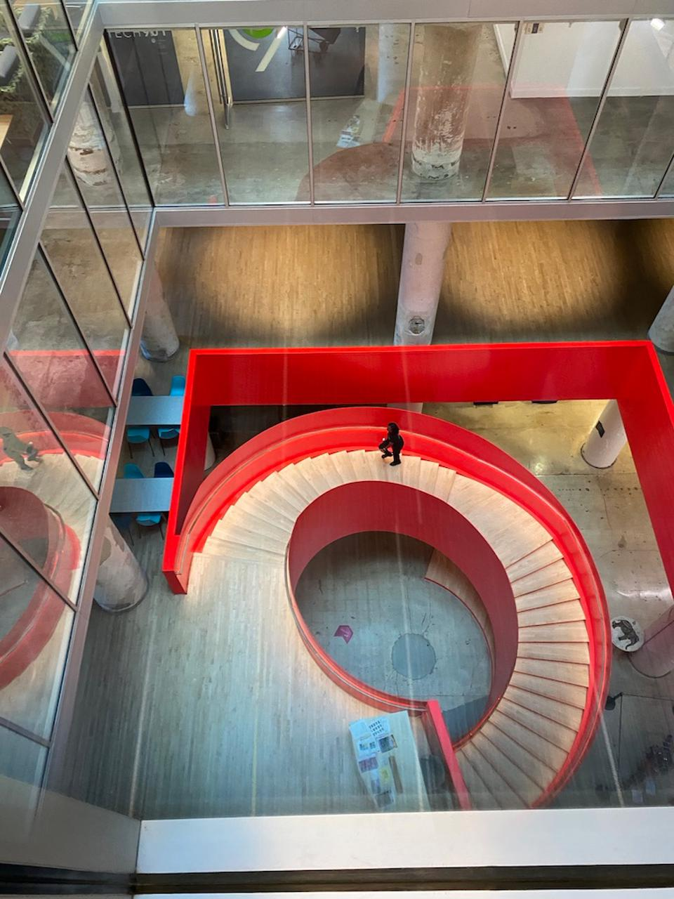 The red spiral staircase