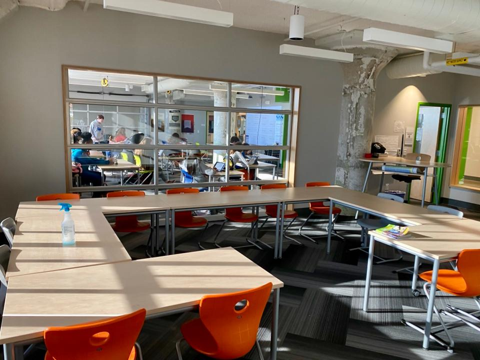 Each Crosstown cohort shares a Basecamp of connected classrooms.