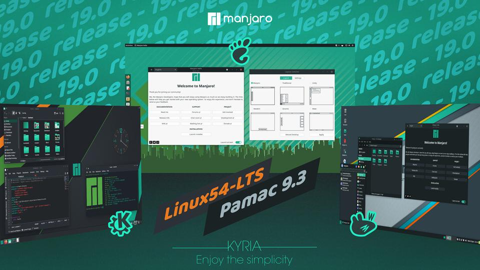 Manjaro 19 Is Now Available With Updated GNOME, KDE Plasma And Xfce Features