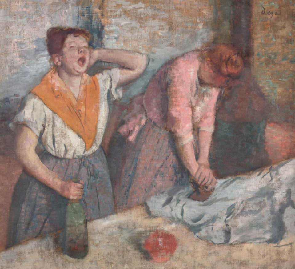 Edgar Degas. Repasseuses (Women Ironing)