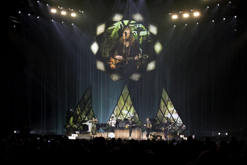 The Lumineers perform on night one of two at Allstate Arena in Rosemont, IL. February 21, 2020 (Photo by Ethan Chivari)
