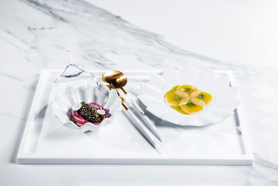 Example dish from the Britannia Hotel's Speilsalen restaurant.