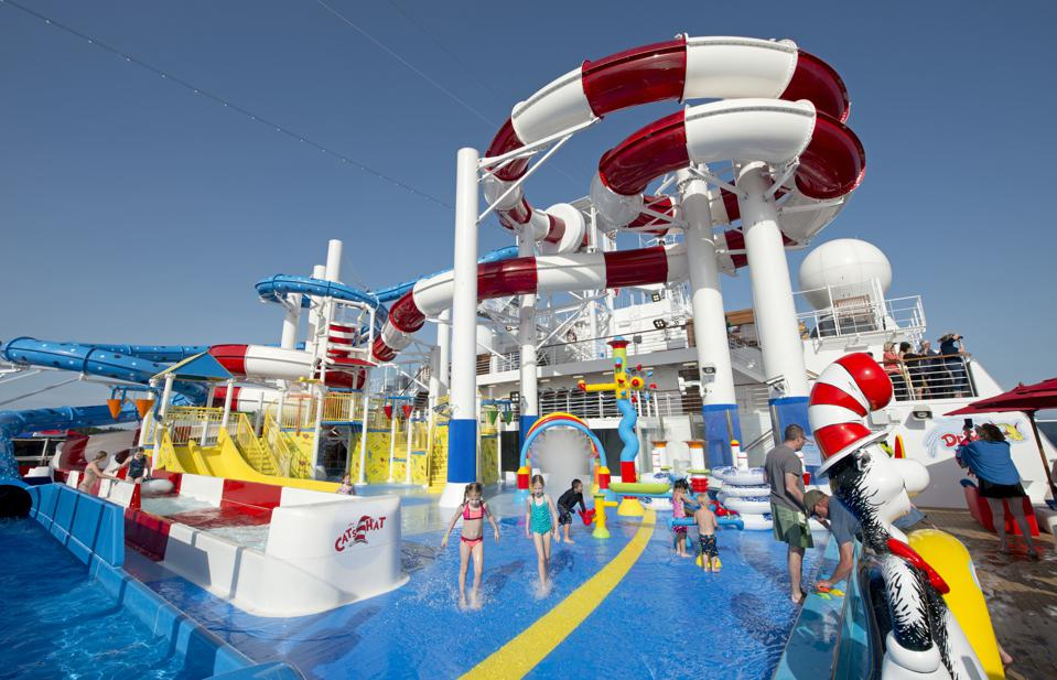 The Dr. Seuss water area aboard the Carnival Horizon.
