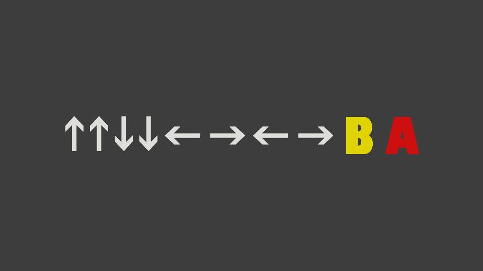 The Konami code - up up down down left right left right B A