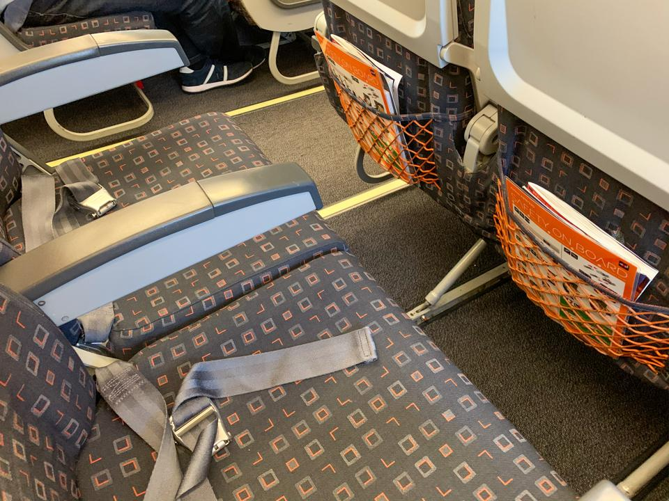 easyJet low-cost airline legroom Europe