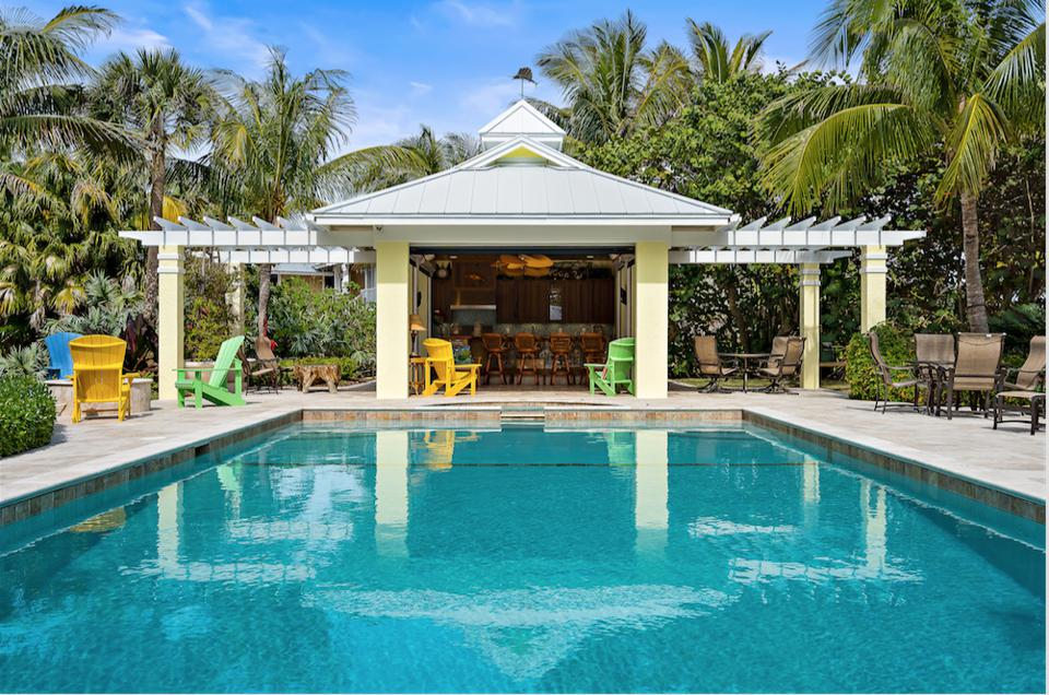 This South Hutchinson Island beach house was once a hotspot for Hollywood celebrities like Bob Hope, Jackie Gleason and James Cagney.