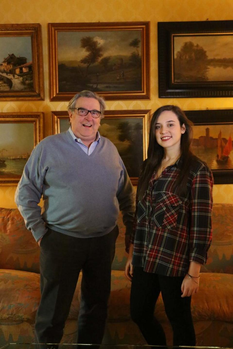 Pio Boffa and his Daughter Federica Rosy