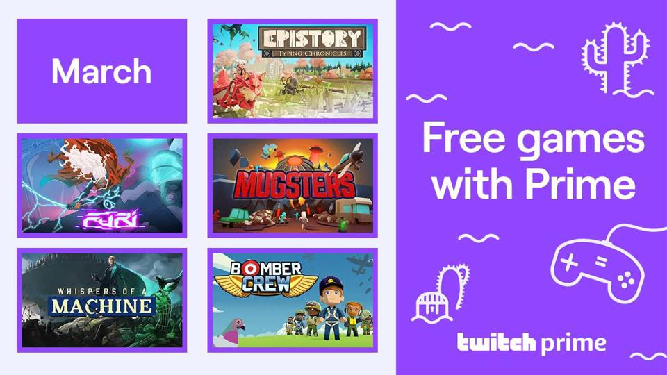 Free Games Twitch Prime March