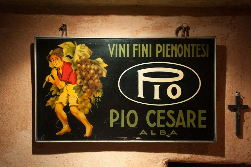 Sign at Pio Cesare Winery