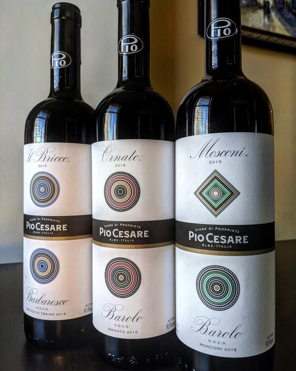 Pio Cesare Single Vineyard Series: Il Bricco (Barbaresco), Ornato (Barolo) and Mosconi (Barolo)