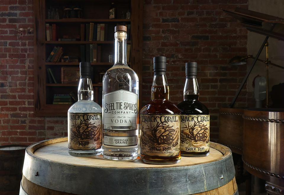 Steel Tie Spirits is a local distiller in West Palm Beach's Warehouse District.