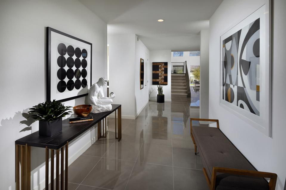 Mid-Century Modern-inspired interior of a Mialon Home.