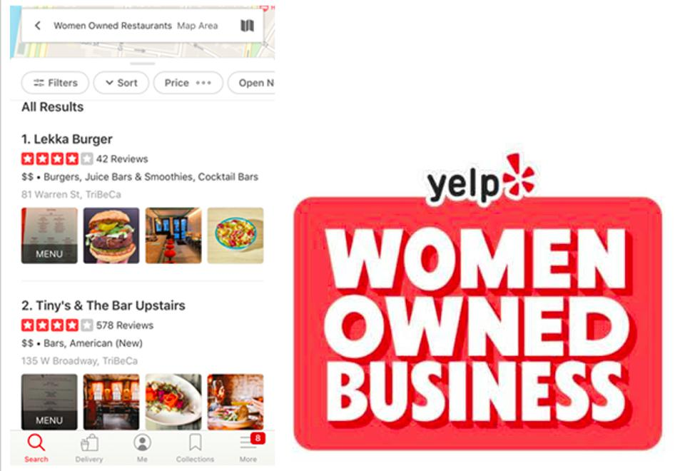 New York City's Lekka Burger is a proudly woman-owned business, which will be searchable via Yelp.