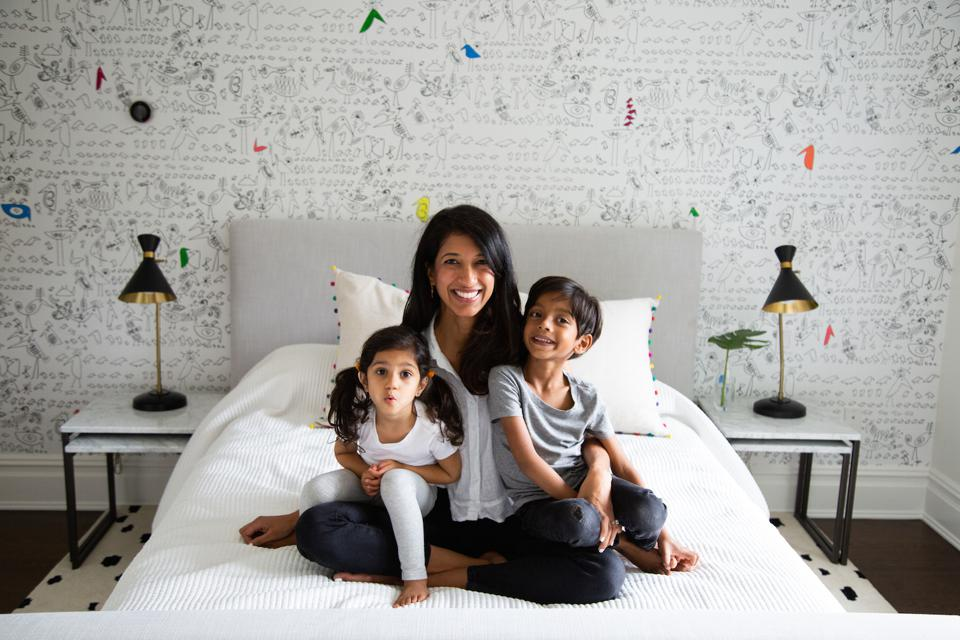 Bubbsi founder Sweta Doshi and her kids