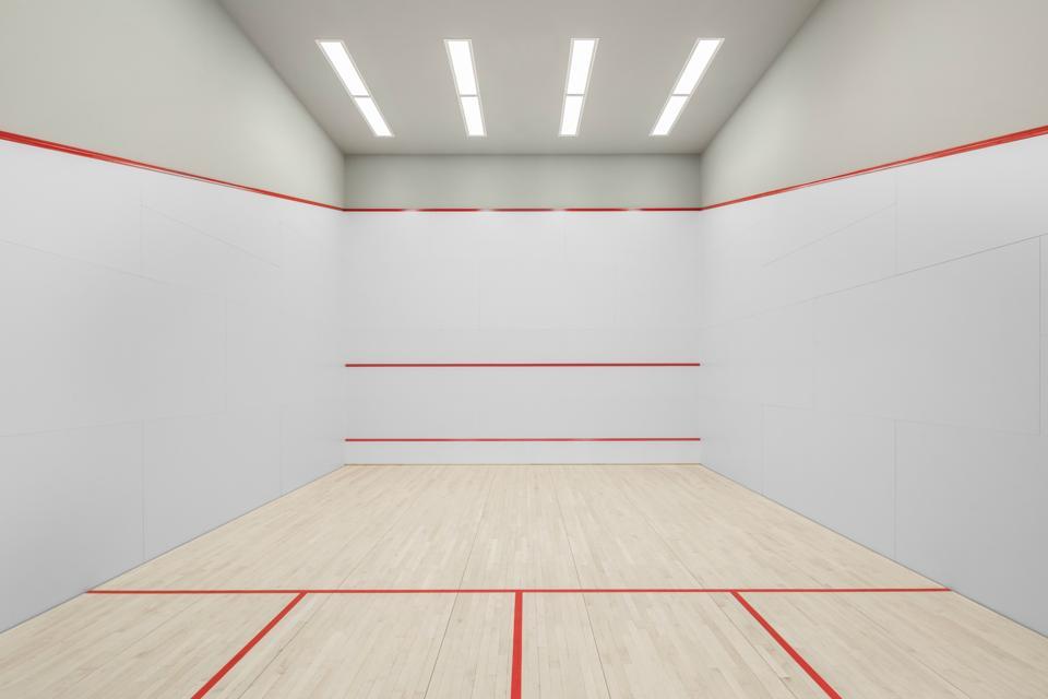 A squash court.