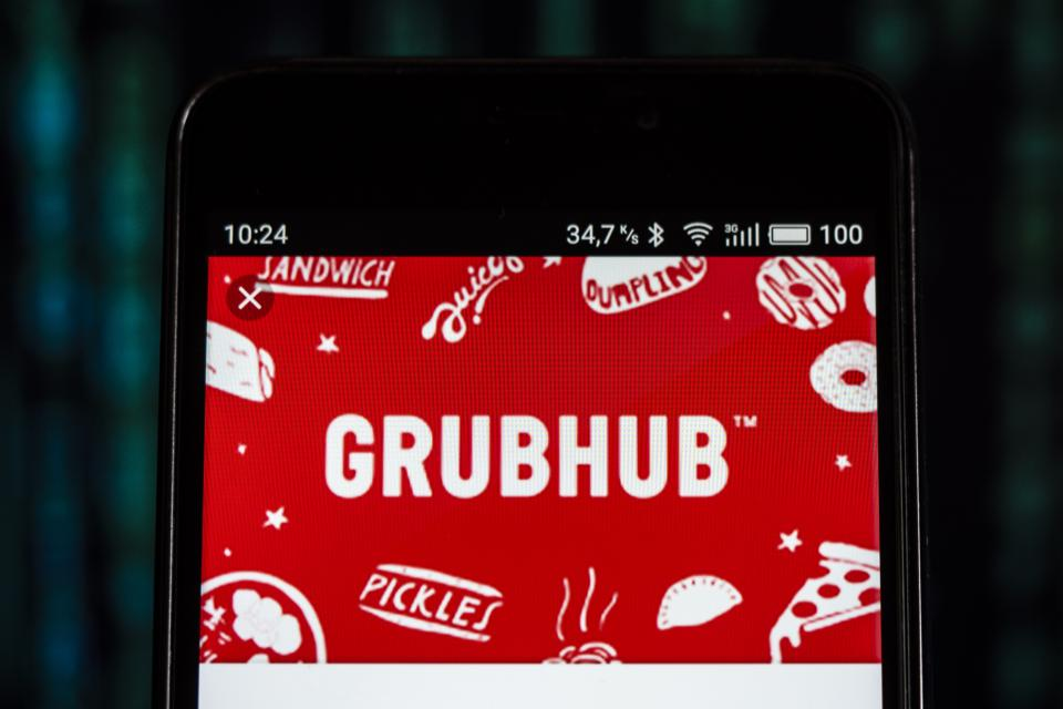 Grubhub. Photo Illustration by Igor Golovniov/SOPA Images/LightRocket via Getty Images