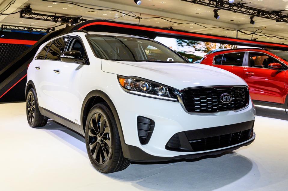 Kia Sorento AWD seen at the New York International Auto Show...
