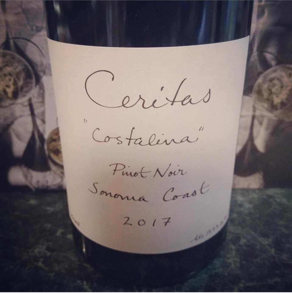 The Ceritas ″Costalina″ Pinot Noir.
