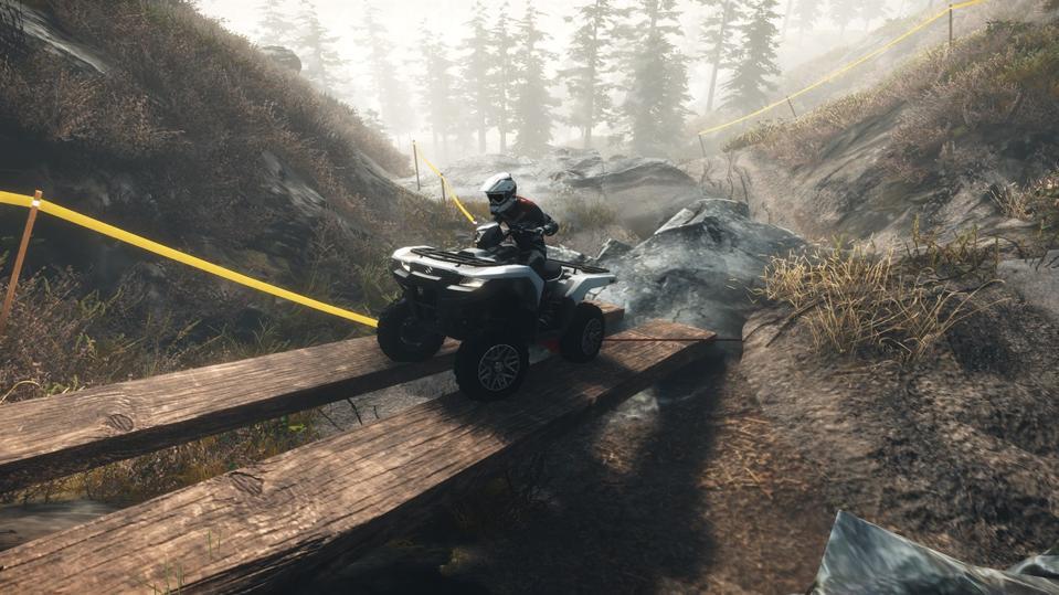 An ATV in Overpass