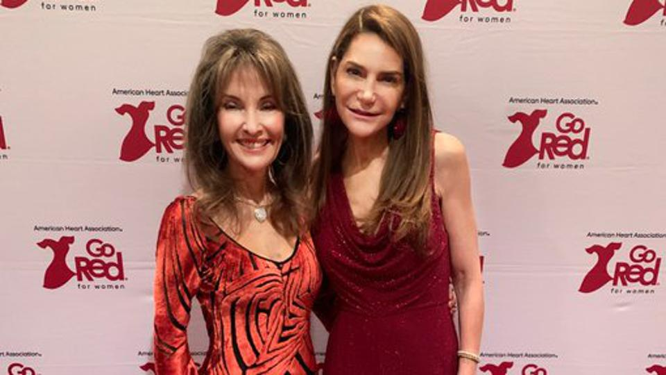 Liz Elting and Susan Lucci