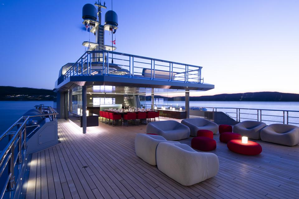 Bold's massive deck space is perfect for parties.