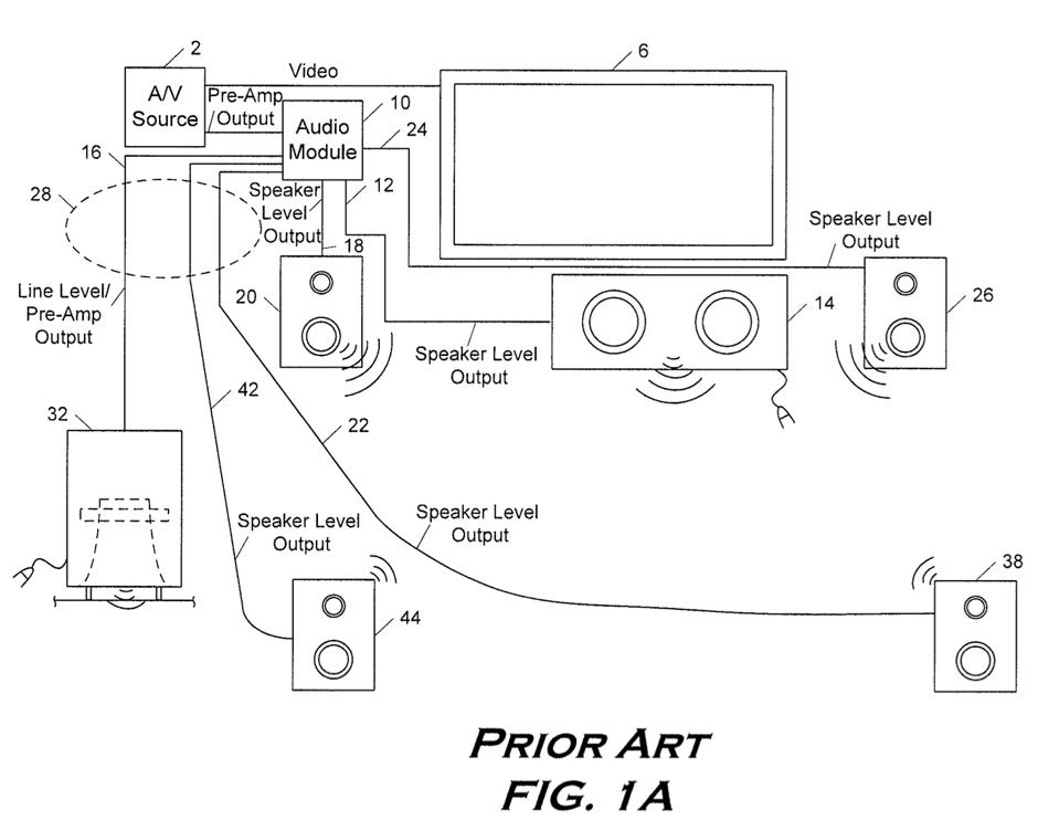 patent for apple home theater system
