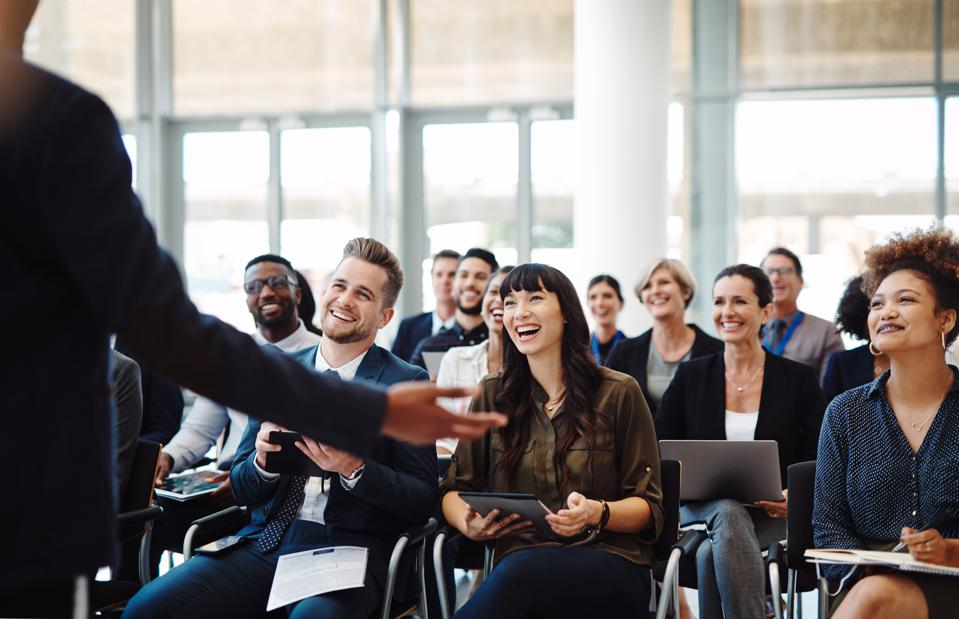 Every presenter's dream, an audience full of go getters