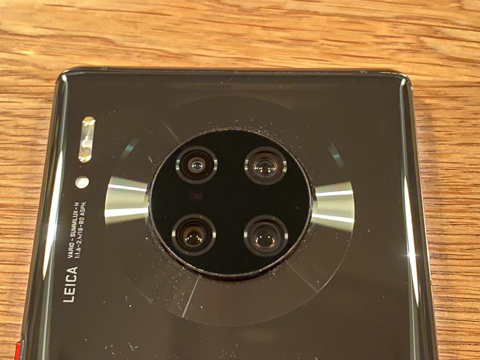 Rear cameras on the Huawei Mate 30 Pro.