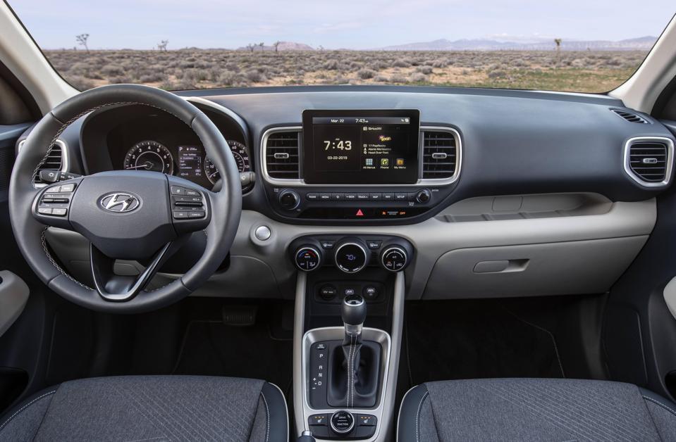 2020 Hyundai Venue Interior.