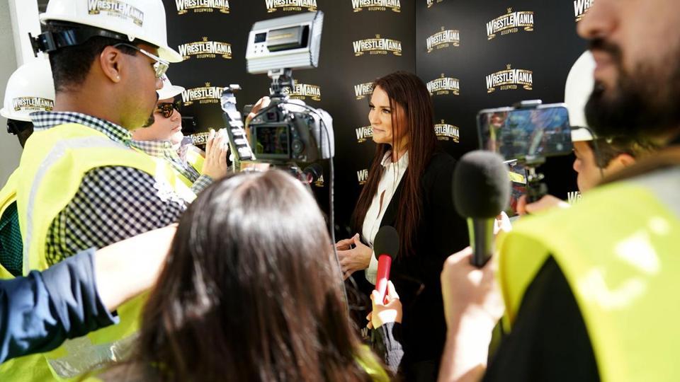 Stephanie McMahon WWE WrestleMania 37 coronavirus Los Angeles