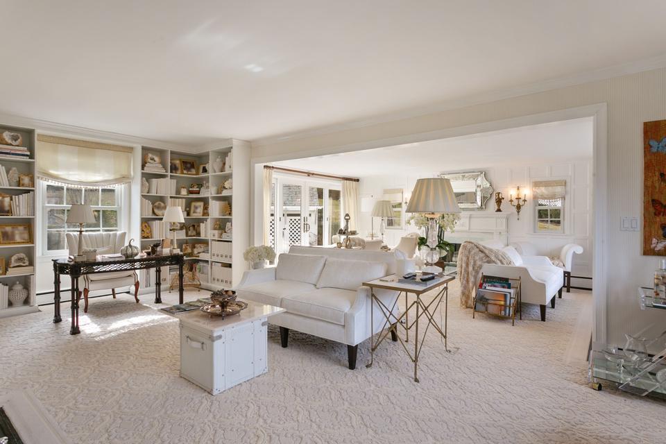 A beige living room.