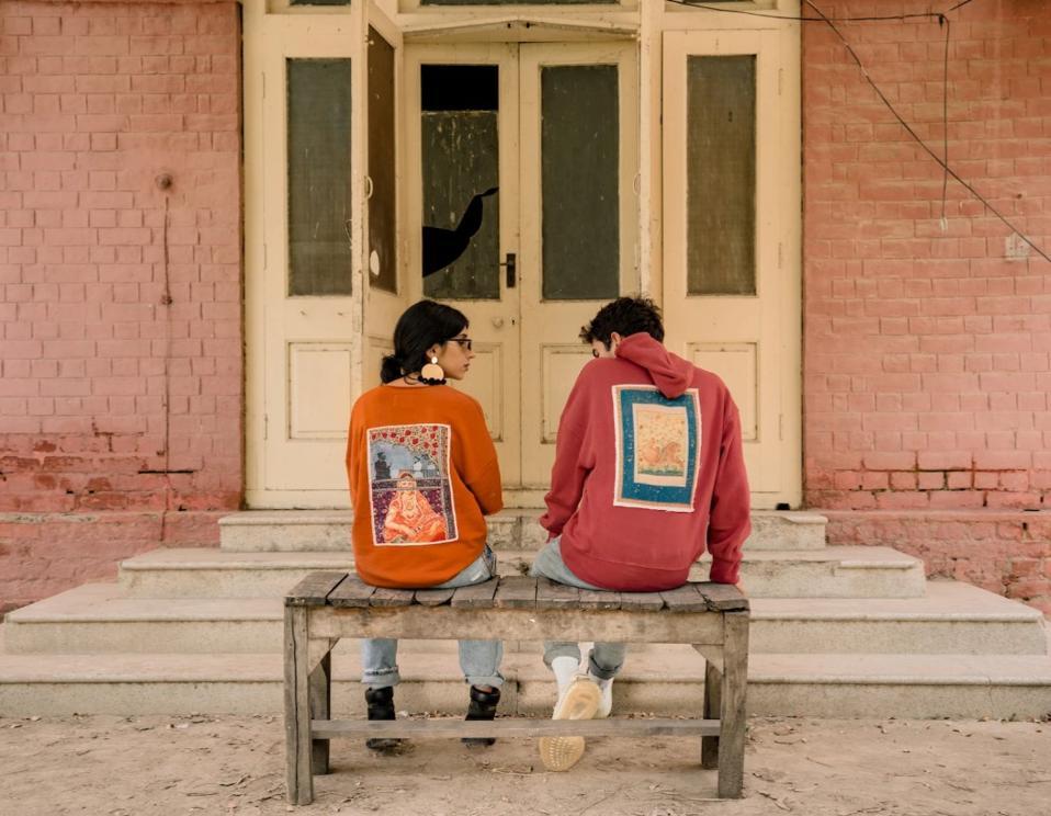 The Mughal miniature Rastah t-shirt and hoodie.