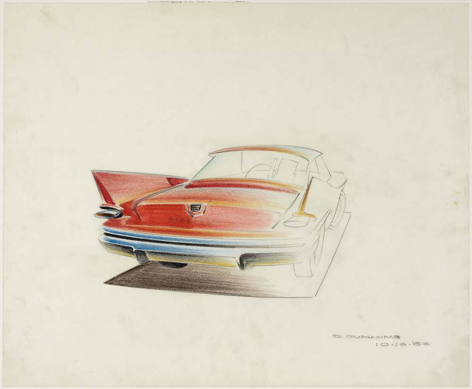 American designer Dave Cummins 1960 Chrysler, 1956. Collection of Brett Snyder.