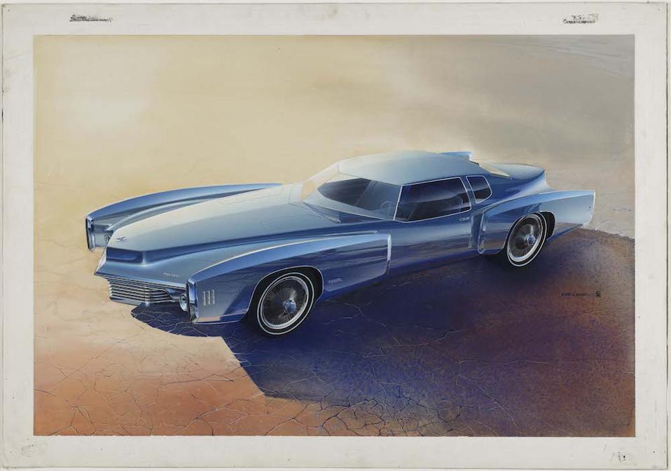 Designer Roger Hughet's Toronado Proposal, 1968. Collection of Roger Hughet.