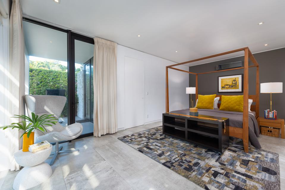 The home has four bedrooms and three modern baths.