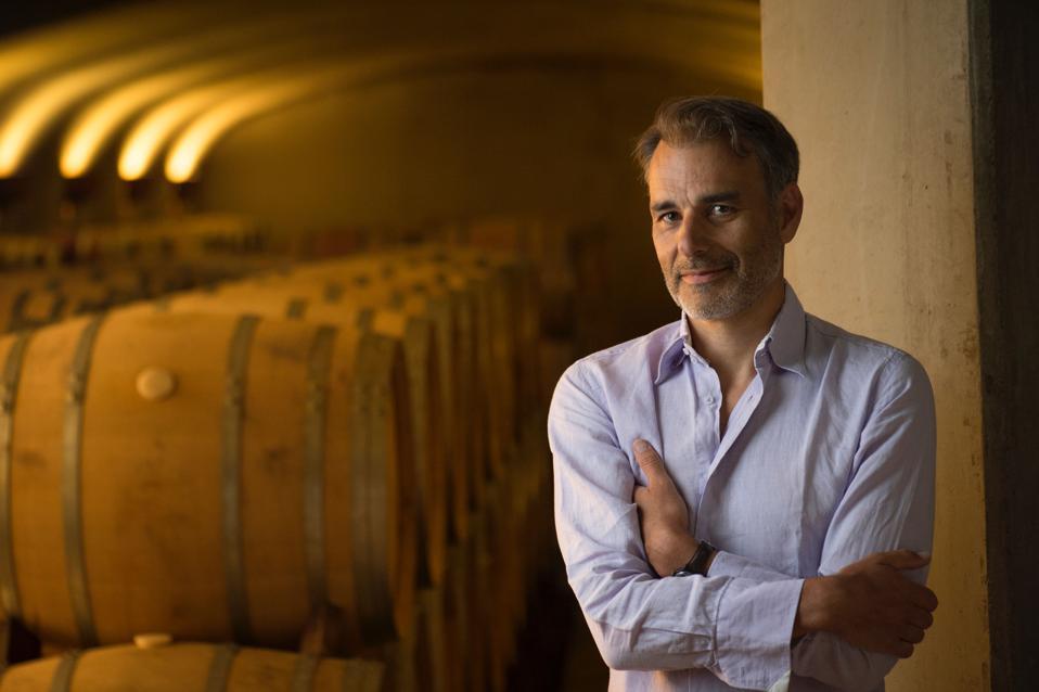 Jean-Nicolas Méo in the cellar