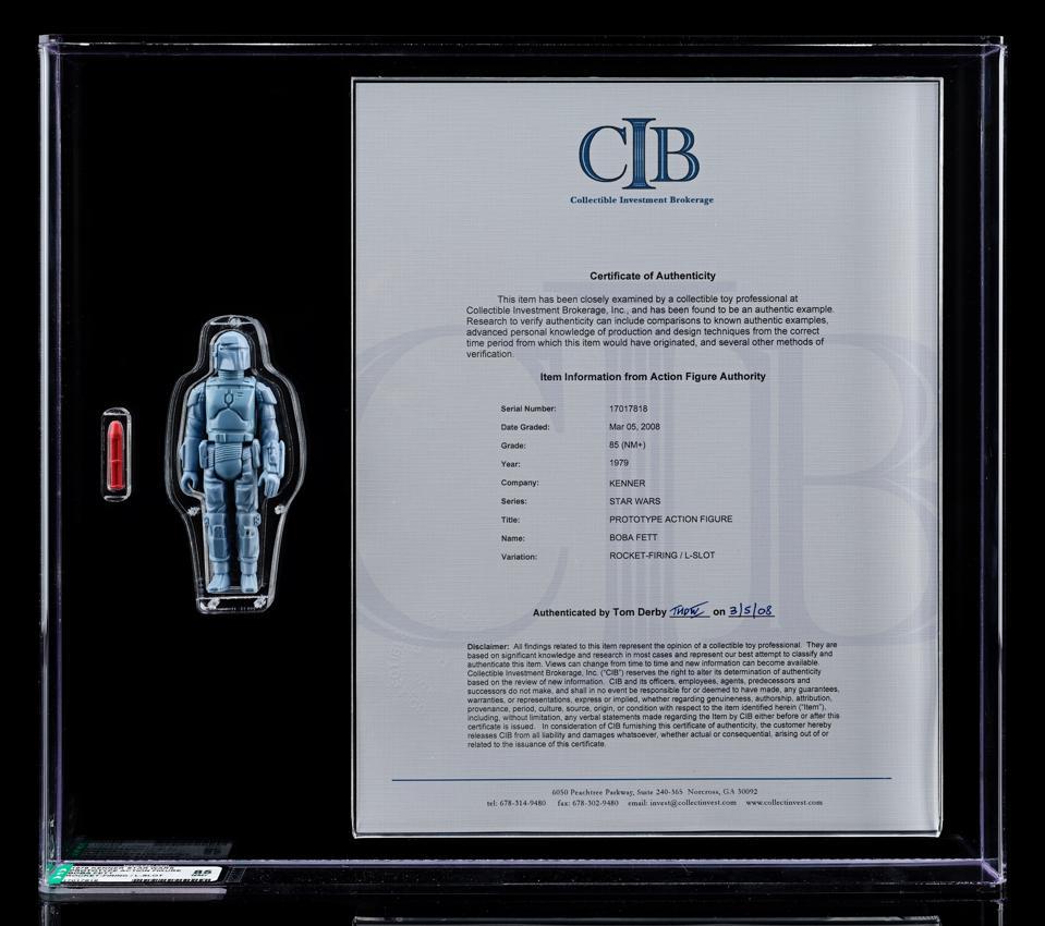 Rocket-Firing Boba Fett, Star Wars, Auction, The Empire Strikes Back, The Mandalorian,