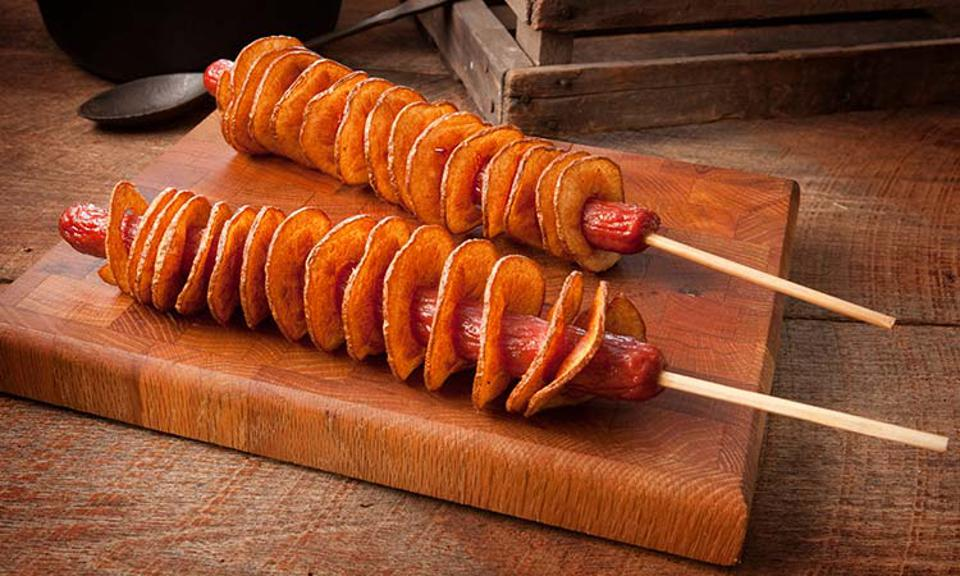 Twisted Tater Dog at Silver Dollar City in Branson, Missouri.
